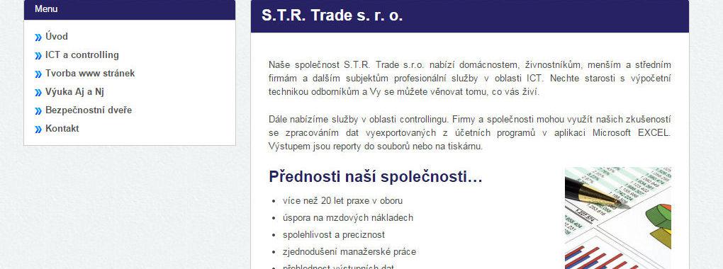 S.T.R. Trade - redesign webu